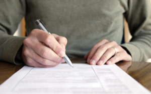 Filling out forms (Informed consent)