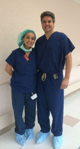 Two physicians in scrubs