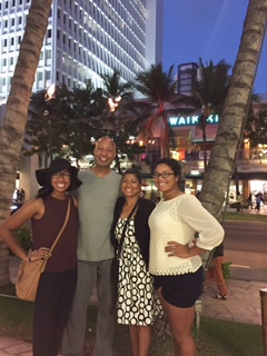 Dr. Tyler with his  wife and two daughters in Hawaii during Christmas vacation