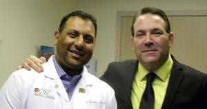 Michael and gastrointestinal specialist Dr. Omar Khokhar