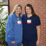 Two generations of OSF nurses side by side
