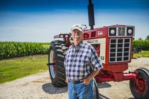 Doug Erickson works on his family farm