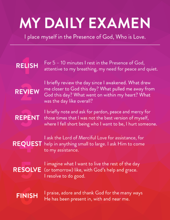 Daily Examen Prayer Card
