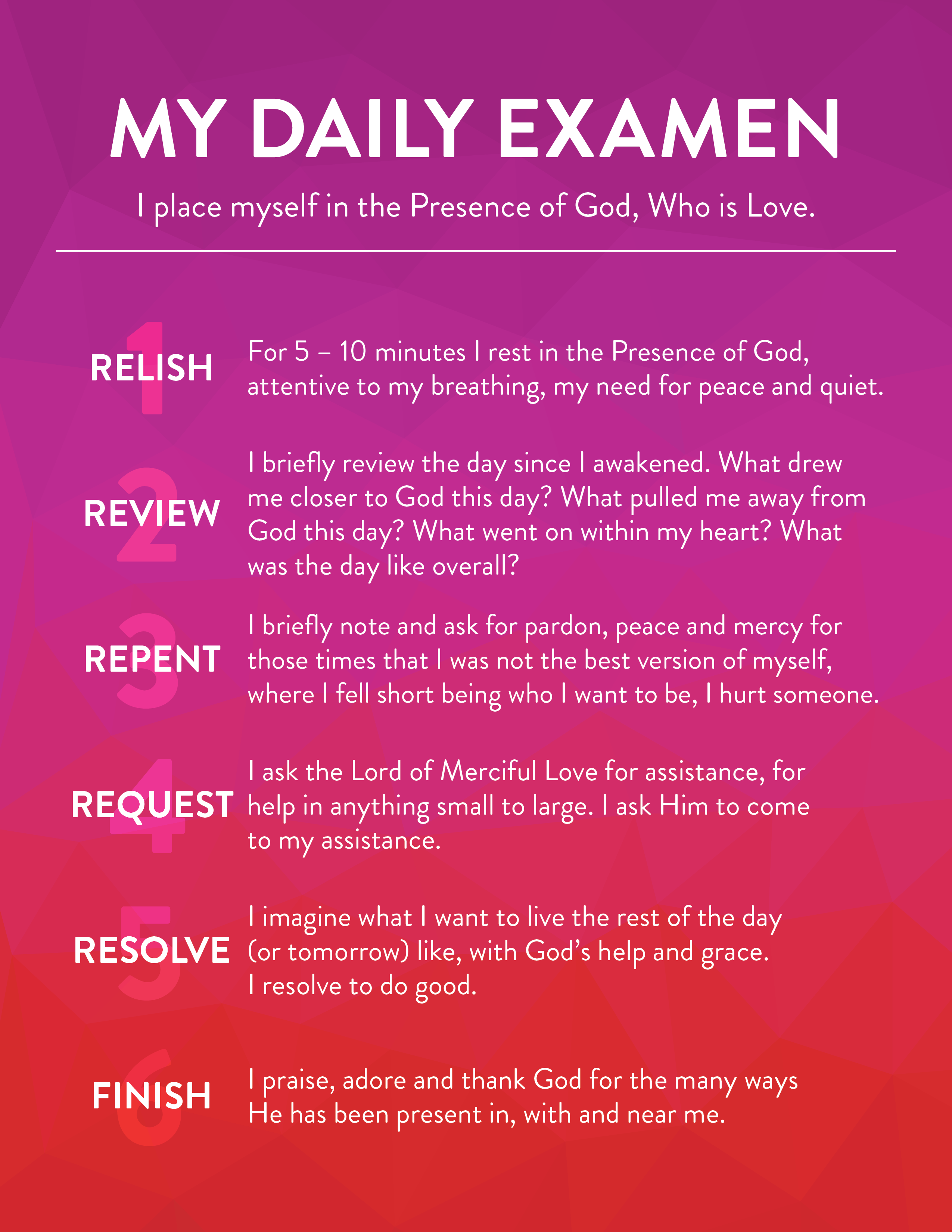 Six daily steps to help you re-center yourself in God