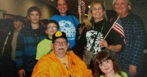 James Purl and family after the Honor Flight