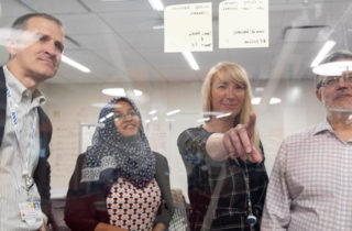 OSF Innovation data analytics team working
