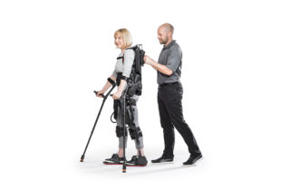 Ecksobionics exoskeleton suit being used in rehabilitation