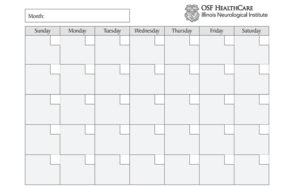 Headache calendar example