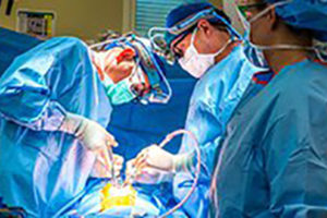Children's Hospital of Illinois surgical team operating on congenital heart patient