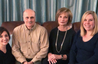 Dennis VanMeter and family at home.
