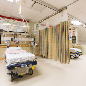 Emergency Department suite with beds
