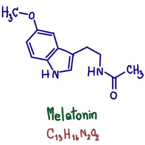 chemical formula for melatonin