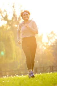 woman jogging in the morning