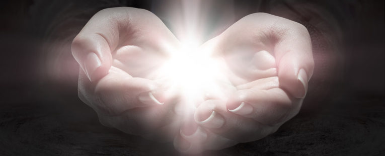Hands out accepting a miracle