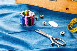 sewing materials and pants