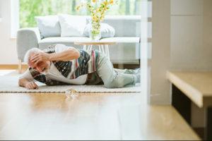 Fallen senior citizens whom lives home alone