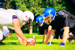 football players on field