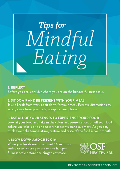 Mindful Eating tips card
