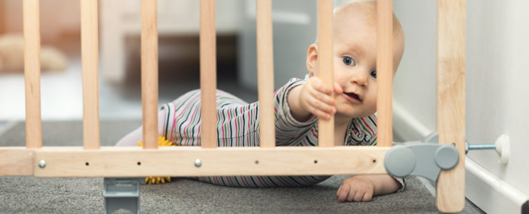 Baby with Safety Gate