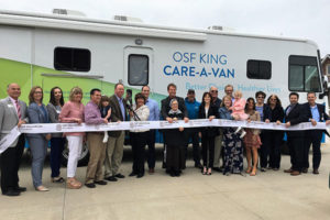 OSF King Care-A-Van ribbon cutting ceremony