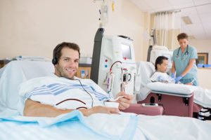 Hemodialysis patients receiving care