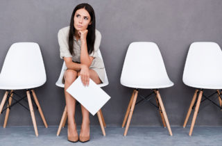 Woman Waiting on Interview