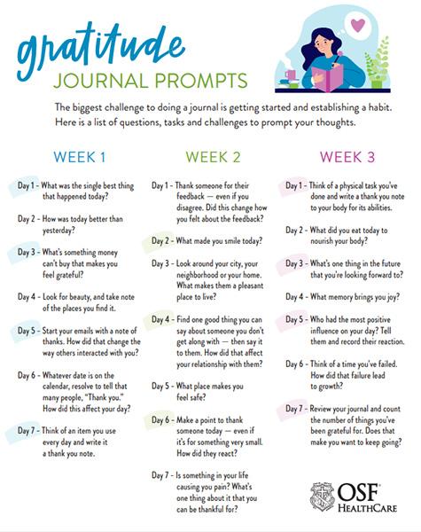 Gratitude Journal Infographic