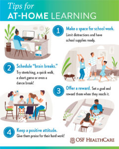 Tips for At-Home Learning [Infographic]