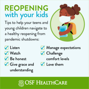 Tips for talking with kids about reopening