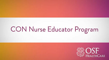 CON Nurse Educator Program video