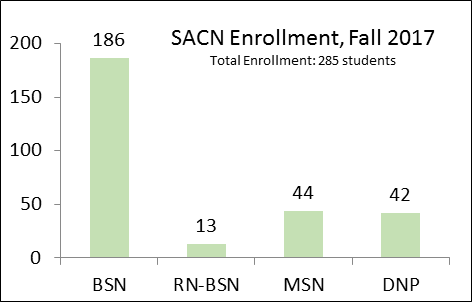 Saint Anthony College of Nursing Program Enrollment Graph