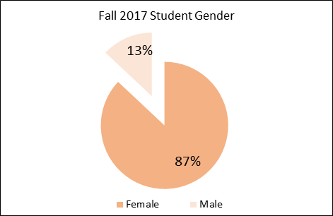 Saint Anthony College of Nursing Gender Graph