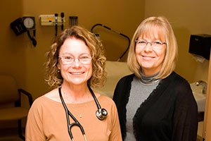 Dr. Mary Chinn and Jane Battles, Family Nurse Practitioner