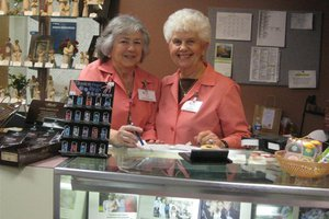 OSF Holy Family Volunteers Judy Muhleman and Marcia Reichow