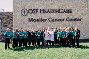 OSF Moeller Cancer Center ribbon cutting with Mission Partners