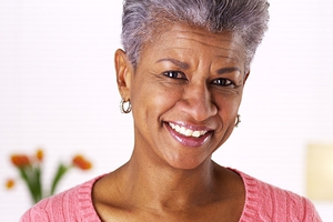 Smiling senior African-American woman