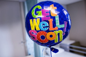 Get well soon balloon from gift shop