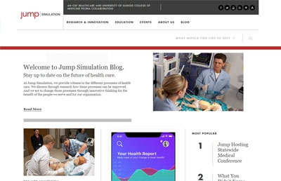 Jump Trading Simulation & Education Center - Blog (Screenshot)