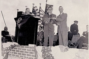 Placing of the Hospital Cornerstone in 1949