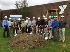 Photo from ground breaking event.