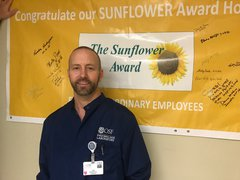 Accepting the Sunflower Award