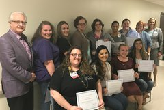 The OSF St. Mary Foundation recognized 14 OSF HealthCare Mission Partners with $1,000 scholarships.