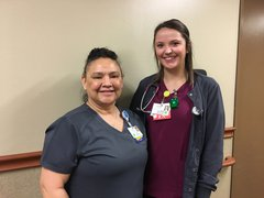 Photo of Josie Rodriguez and Erin Chaon, RN, BSN.