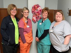 Pictured (left:right) -  Mammography/Diagnostic Radiologic Technologists: Kelli DeWalt, Michelle Hainline, Samantha Miller, and Dawn Christie.