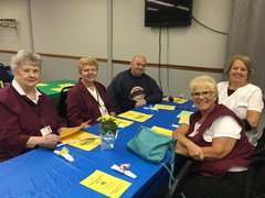 A group of volunteers at the volunteer appreciation luncheon.