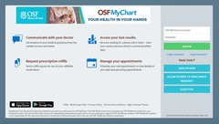 New OSF MyChart Sign-in Screen