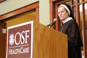 Hospice Home | Sister Judith Ann at Blessing Ceremony