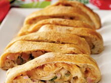 BBQ Chicken Pizza Rollup