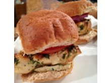 Cilantro Lime Grilled Chicken Sliders