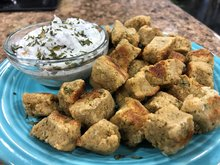 Falafel Bites with Dill Dip